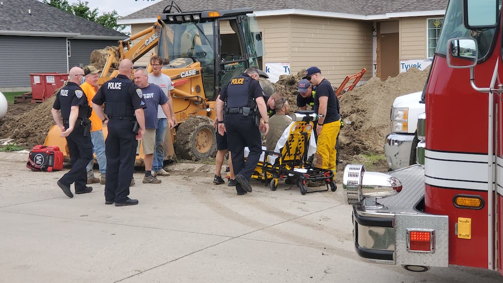 Dog barking alerts owner to man trapped nearby during accident in South Sioux City
