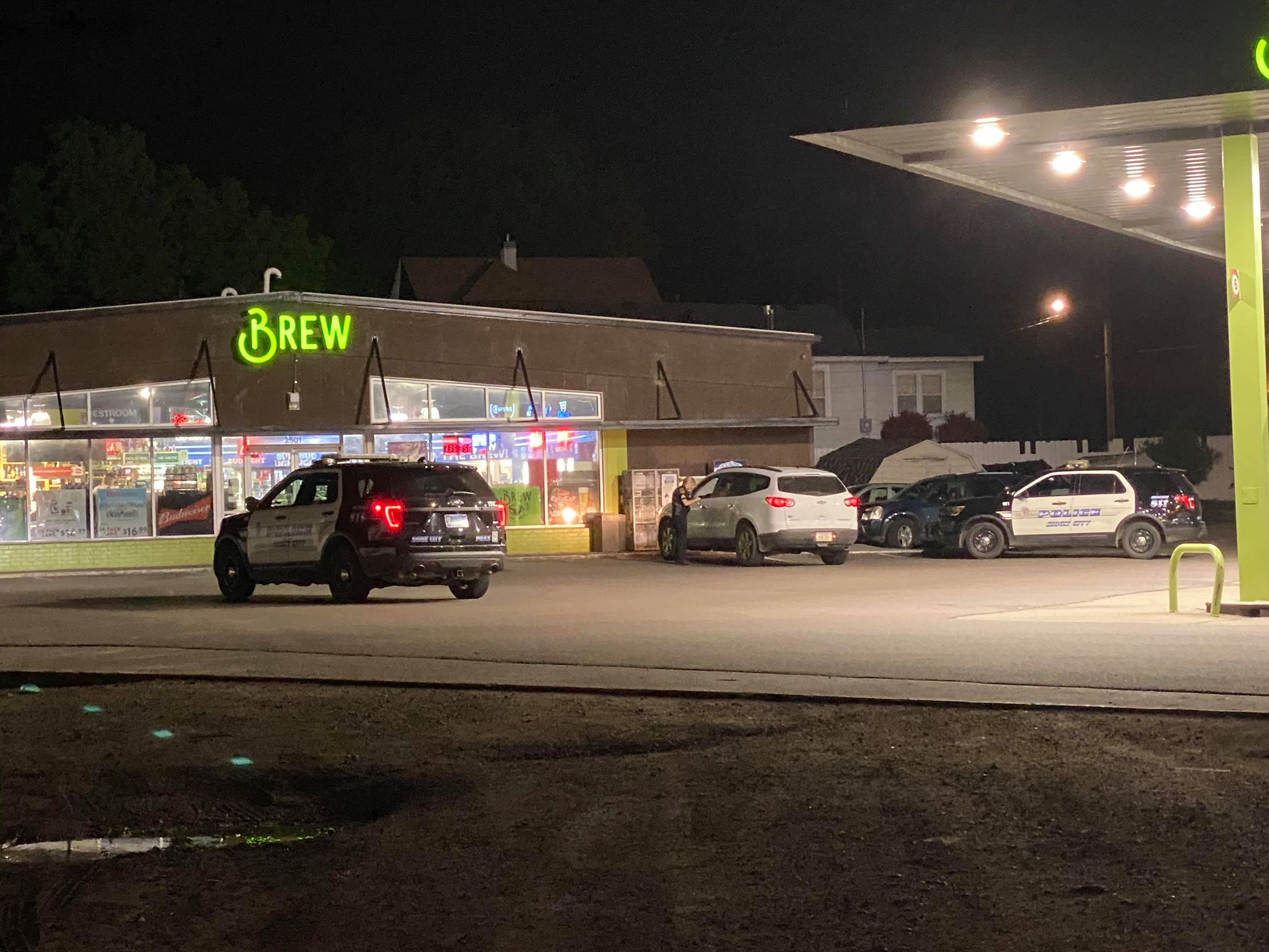 Armed Suspect Robs The Brew on Floyd Blvd