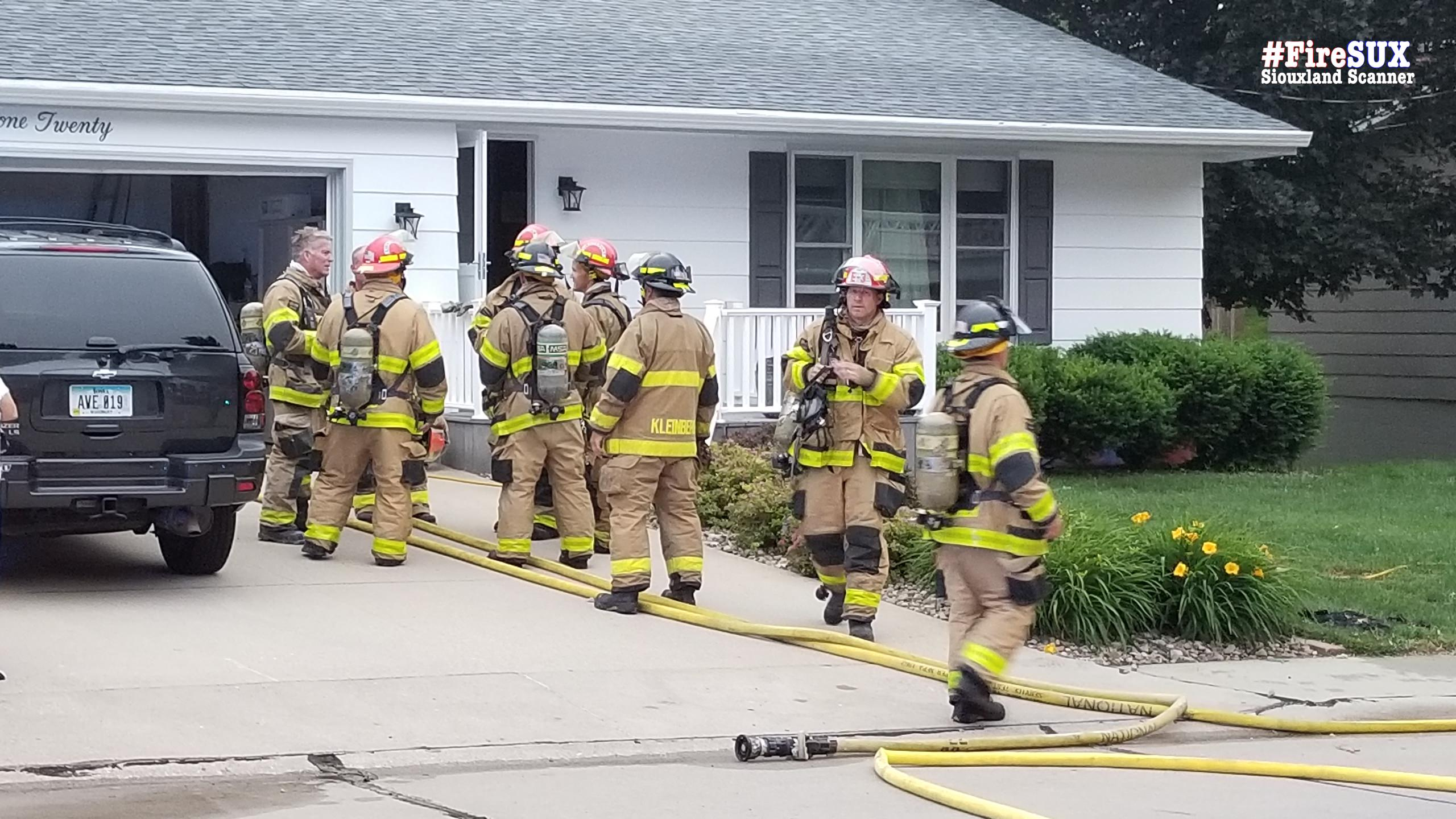 Homeowners found smoke after hearing crackling coming from their attic